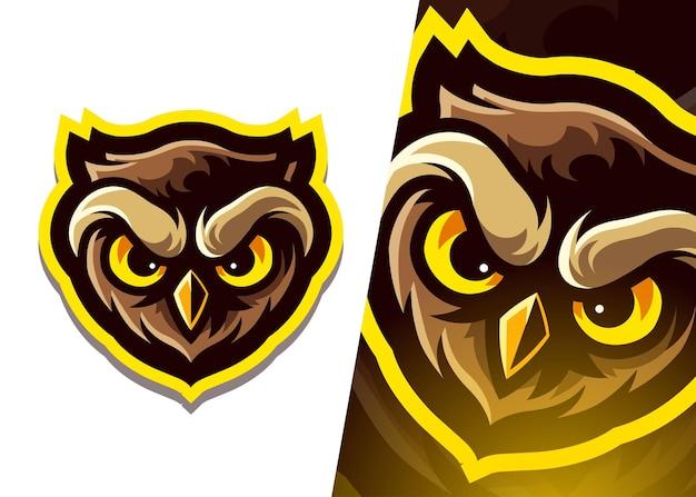Logo de mascotte de hibou