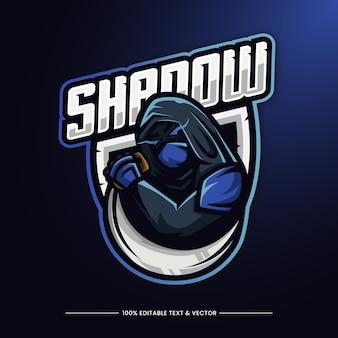 Logo de mascotte illustration ninja