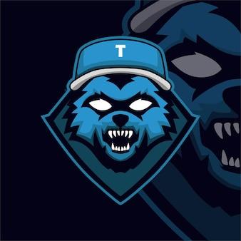 Logo de mascotte de jeu de baseball esport