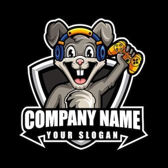 Logo de mascotte de jeu de bunies