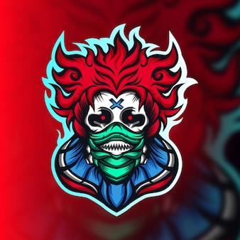 Logo de mascotte de jeu de clown