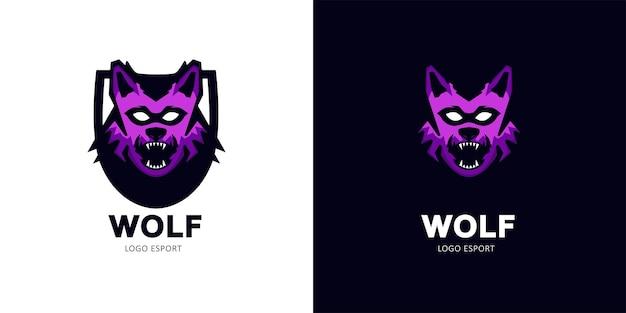 Logo de mascotte de jeu esport de loup