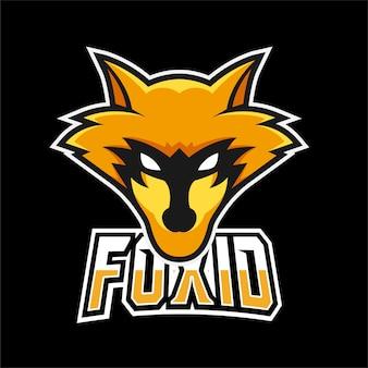 Logo de mascotte de jeu fox sport et esport
