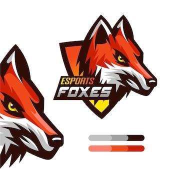 Logo de mascotte de jeu fox