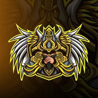 Logo de la mascotte de jeu mob squad