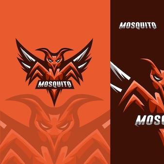 Logo de mascotte de jeu de moustique