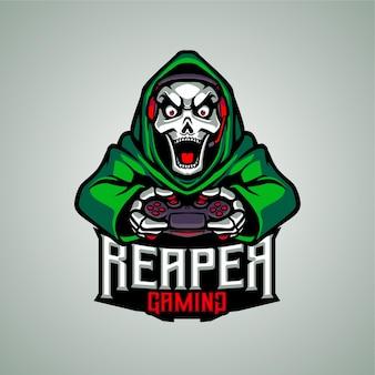 Logo de mascotte de jeu reaper