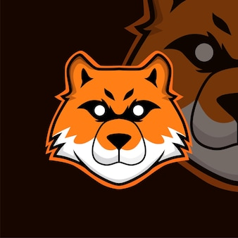 Logo de mascotte de jeu de renard esport