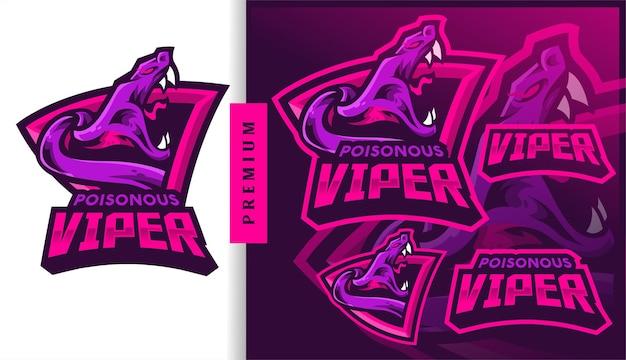 Logo de mascotte de jeu viper toxique