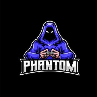 Logo de mascotte de joueur fantôme