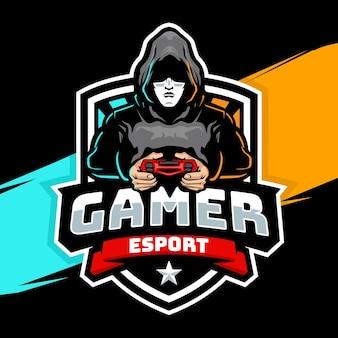 Logo de mascotte de joueur