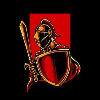 Logo de la mascotte knight e sport