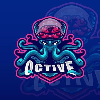 Logo mascotte kraken