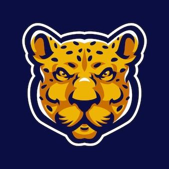 Logo mascotte léopard sport.