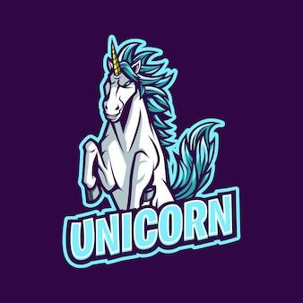 Logo de mascotte de licorne pour l'esport et le sport d'équipe