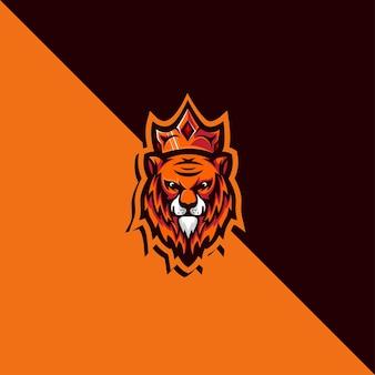 Logo mascotte lion détaillé