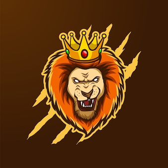 Logo de la mascotte lion king head