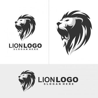 Logo mascotte lion