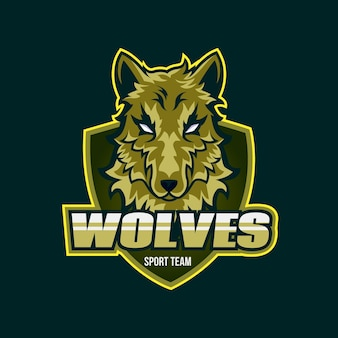 Logo de la mascotte des loups
