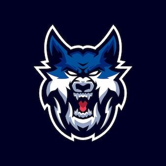Logo de mascotte de loups
