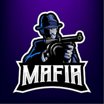 Logo de mascotte mafia