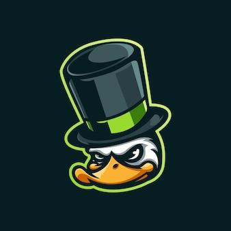 Logo de mascotte de magicien de canard