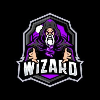 Logo de mascotte magicien