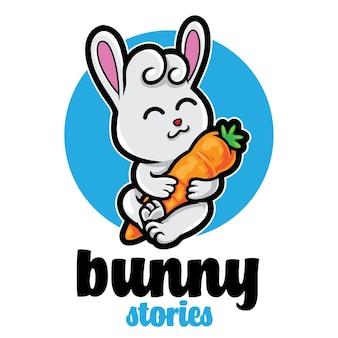Logo de mascotte mignon lapin