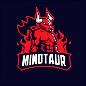 Logo mascotte minotaure
