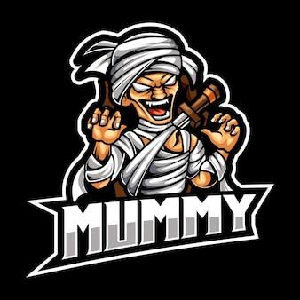 Logo mascotte momie