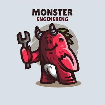 Logo de la mascotte monster engineering