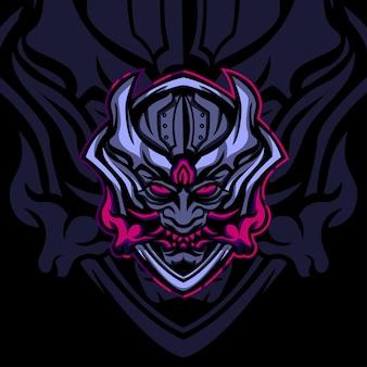Logo de mascotte de monster squad japonais