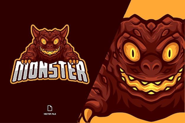 Logo de mascotte de monstre de lave
