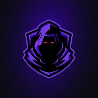 Logo de mascotte mystérieux