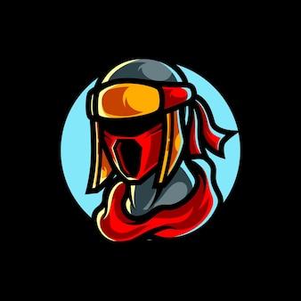 Logo mascotte ninja e sport