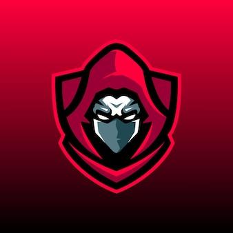 Logo de mascotte ninja
