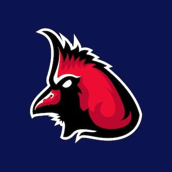 Logo de mascotte d'oiseau cardinal