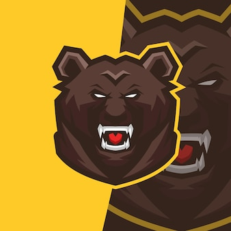 Logo de mascotte d'ours