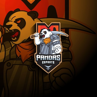 Logo de la mascotte panda esport
