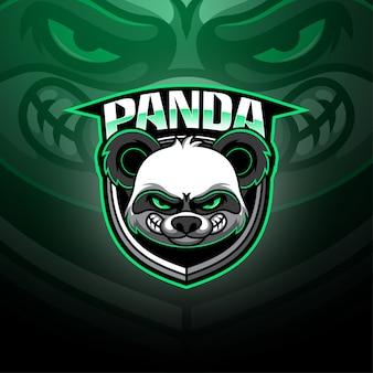 Logo mascotte panda esport