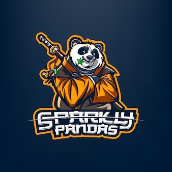 Logo de mascotte panda