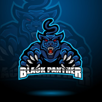 Logo mascotte panthère noire