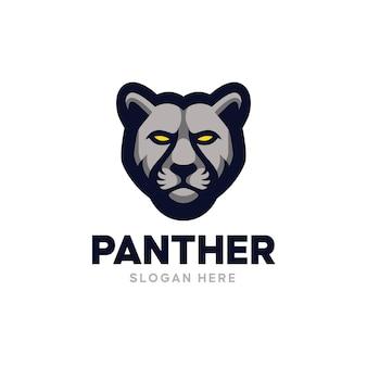 Logo de mascotte de panthère