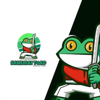 Logo de mascotte de personnage de grenouille adapté à l'équipe de jeu