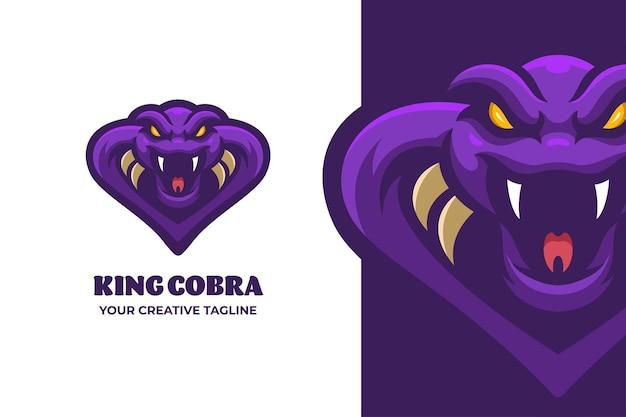 Logo de mascotte de personnage de serpent sauvage
