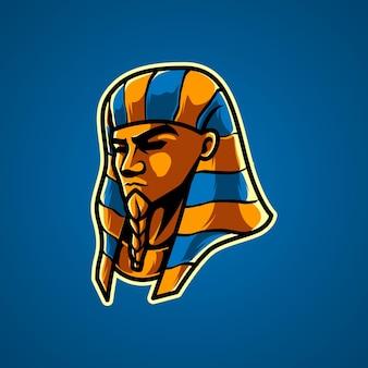 Logo de mascotte pharaon e sport