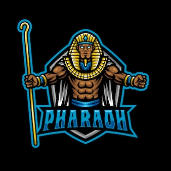 Logo mascotte pharaon esport gaming