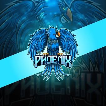 Logo mascotte phoenix esport