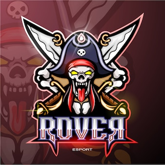 Logo mascotte pirate