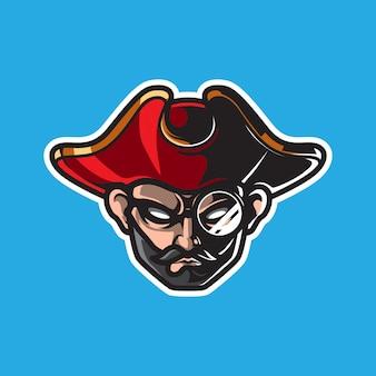 Logo de mascotte de pirates